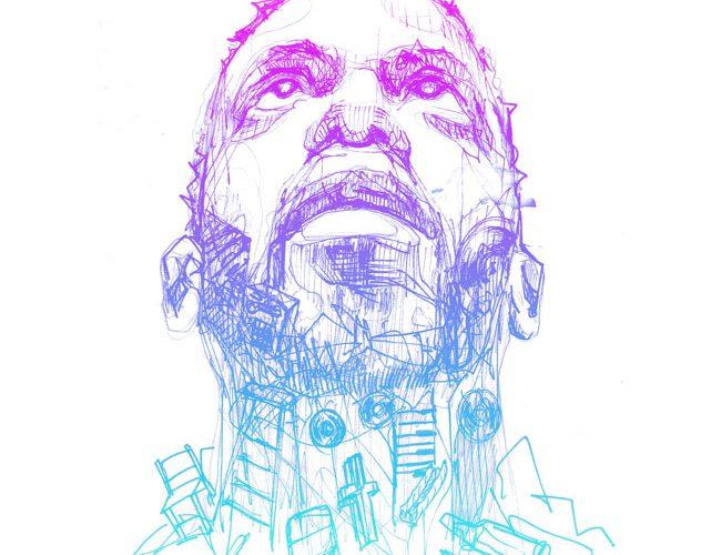 artistic sketch of Dahlaks face